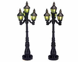 Lemax Village Collection Old English Street Lamp Set of 2 # 34902