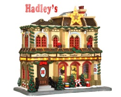 Lemax Village Collection Hadley's Department Store with Adaptor # 35496