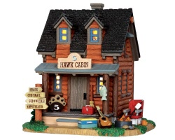 Lemax Village Collection 5 Hawk Cabin # 35517