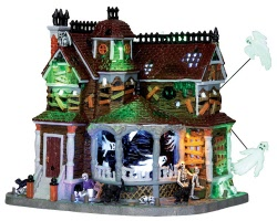 Lemax Spooky Town Last House On The Left with Adaptor # 35548
