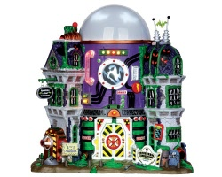Lemax Spooky Town Ghost Containment Building with Adaptor # 35549