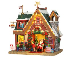 Lemax Village Collection Santa's Cabin with Adaptor # 35554