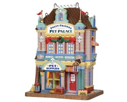 **NO OUTER BOX** Lemax Village Collection Fuzzy Friends Pet Palace # 35583 **READ DESCRIPTION**