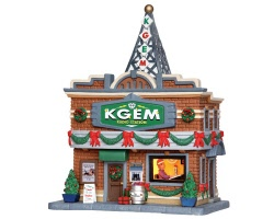 Lemax Village Collection KGEM Radio Station # 35587