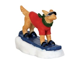 Lemax Village Collection Snowboarding Dog # 42222