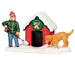 Lemax Village Collection Digging Out The Doghouse # 42231