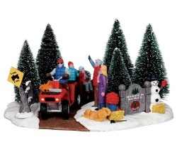 Lemax Village Collection Here Comes Our Tree # 43070