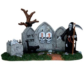 **NO OUTER BOX** Lemax Spooky Town Grim Reaper Countdown # 43102 **READ DESCRIPTION**