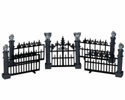 Lemax Spooky Town Gargoyle Fence Set of 5 # 44139
