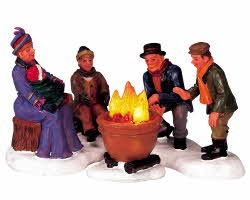 Lemax Village Collection Bonfire Set of 3 # 44221