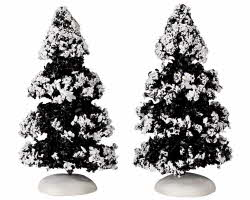 Lemax Village Collection Evergreen Tree Set of 2 Small 4 inch # 44234