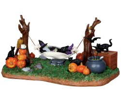 Lemax Spooky Town Witches' R & R Battery Operated # 44731
