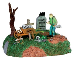 Lemax Spooky Town Igor The Grave Digger Battery Operated # 44734