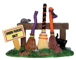 Lemax Spooky Town Broom Parking Rack # 44737