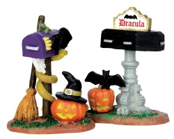 Lemax Spooky Town Monster Mailboxes Set of 2 # 44740