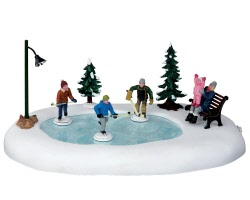 Lemax Village Collection Holiday Hockey Set of 8 Battery Operated # 44769