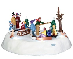 Lemax Village Collection Victorian Ice Merry Go Round Battery Operated # 44773