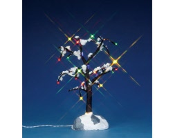 Lemax Village Collection Snowy Dry Tree Medium 6 inch Battery Operated # 44784