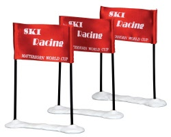 Lemax Village Collection Ski Racing Flag Set of 3 # 44805