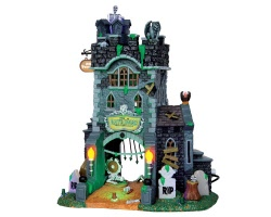 Lemax Spooky Town The Gate House at Haunted Meadows with Adaptor # 45663