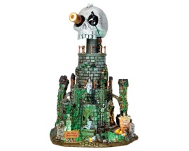 Lemax Spooky Town Mt. Gloom Observatory with Adaptor # 45672