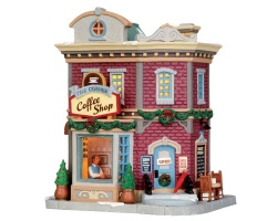 **NO OUTER BOX** Lemax Village Collection The Corner Coffee Shop # 45704 **READ DESCRIPTION**