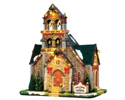 Lemax Village Collection Hillside Bell Chapel with Adaptor # 45729
