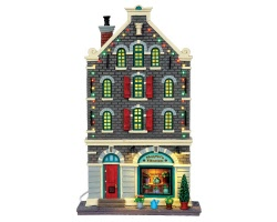 Lemax Village Collection Magriet's Flowers Facade Battery Operated # 45733