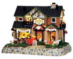 Lemax Village Collection The Barkley-Dog Hotel & Spa with Adaptor # 45737
