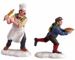 Lemax Village Collection Pie Thief Set of 2 # 52064