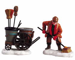 Lemax Village Collection Street Sweeper Set of 2 # 52093