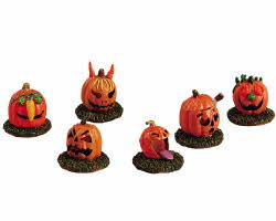 Lemax Spooky Town Pumpkin People Set of 6 # 52117