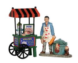 Lemax Spooky Town Zombie Brains Foodcart Set of 2 # 52311