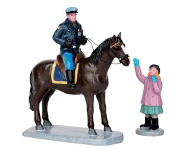 Lemax Village Collection Mounted Policeman Set of 2 # 52317