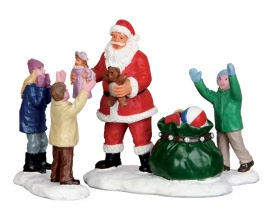 Lemax Village Collection It's Santa! Set of 3 # 52318