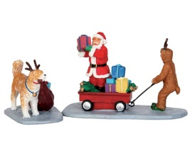 Lemax Village Collection Playing Santa Set of 2 # 52326