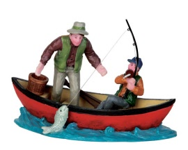 Lemax Village Collection Canoe Catch # 52344