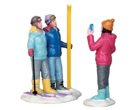 Lemax Village Collection Ski Trip Set of 2 # 52345