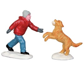Lemax Village Collection Dog In Snow Set of 2 # 52346