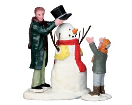 Lemax Village Collection Sharp-Dressed Snowman Set of 2 # 52352