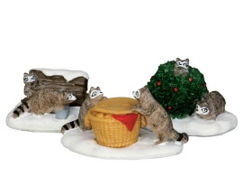 Lemax Village Collection Rascal Raccoons Set of 3 # 52357