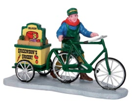 Lemax Village Collection Greenson's Grocery Delivery # 52359
