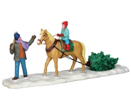 Lemax Village Collection Christmas On Horseback # 53214