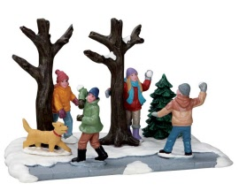 Lemax Village Collection Snowball Ambush # 53216