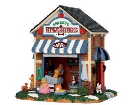 Lemax Village Collection Sparky's Pet Wash Express # 53234