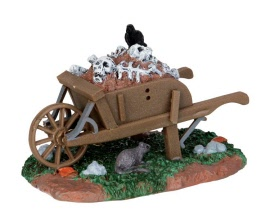 Lemax Spooky Town Scary Wheelbarrow # 54906