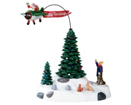 Lemax Village Collection Modern Santa Battery Operated # 54925