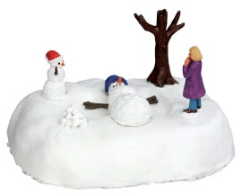 Lemax Village Collection Snowman Angel Battery Operated # 54927
