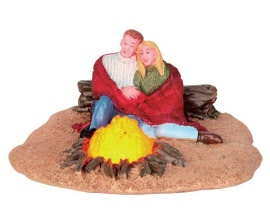 Lemax Village Collection Romantic Campfire Battery Operated # 54929