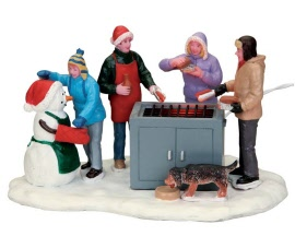 Lemax Village Collection Snowy BBQ Battery Operated # 54931